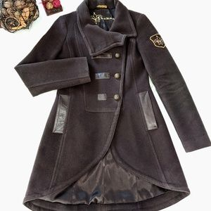 Mackage Brown Wool Cashmere Blend Coat XS